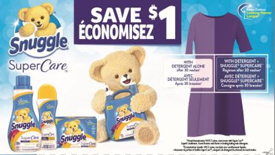 Snuggle Canada Coupons: Save $1 On The Purchase of Any Snuggle Product