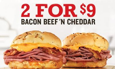 Bacon Beef 'N Cheddar Sandwiches at Arby's