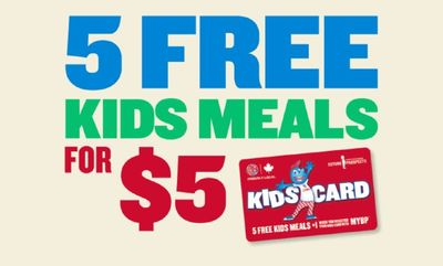 KIDS CARDS at Boston Pizza