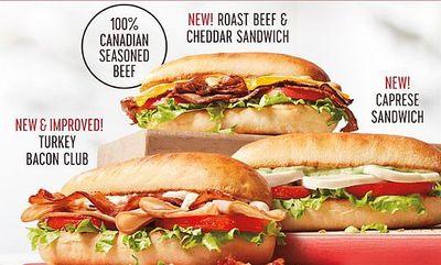 Artisan Sandwiches at Tim Hortons