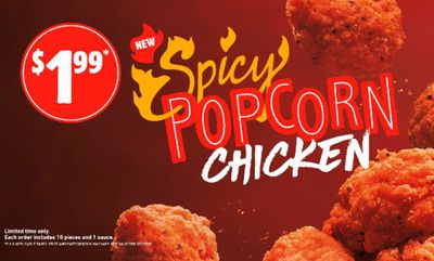 SPICY POPCORN CHICKEN at Burger King