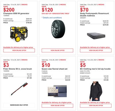 Costco Canada MoreSavings Weekly Coupons/Flyers: All Costco Wholesale Warehouses in Canada Until September 26