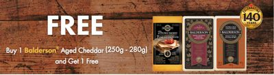 Canadian Coupons: Buy One Get One Free Balderson Aged Cheddar