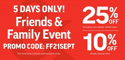 Sport Chek Canada Friends & Family Event: Save 10% to 25% Off Using Coupon Code