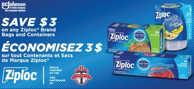 Canadian Coupons: Save $3 On Any Ziploc Brand Bags Or Containers