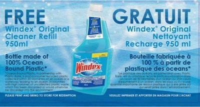 Windex Canada Coupons: Get A Free WIndex Cleaner Refill 950ml!