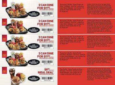 McDonald's Canada Coupons (NB, NS, PE) March 16 to April 19