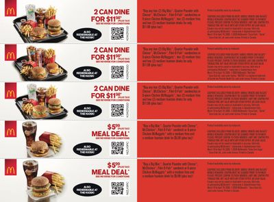 McDonald's Canada Coupons (SK) March 16 to April 19