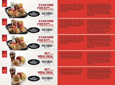 McDonald's Canada Coupons (ON) March 16 to April 19