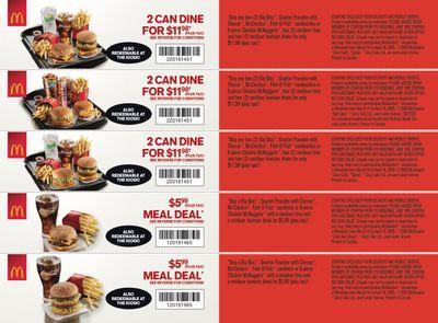 McDonald's Canada Coupons (MB) March 16 to April 19