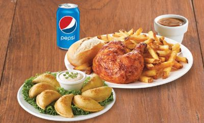Quarter Chicken Dinner, Side,Appetizer & Pop at Swiss Chalet