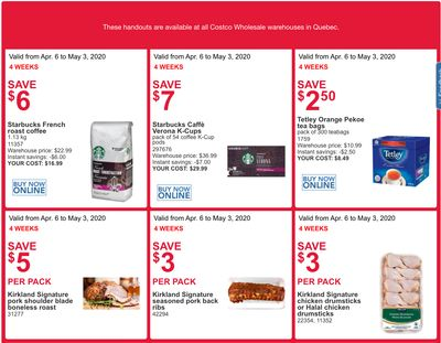 Costco Canada More Savings Weekly Coupons/Flyers for: Quebec, April 6 – 12
