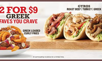 GREEK CRAVES YOU FAVE at Arby's