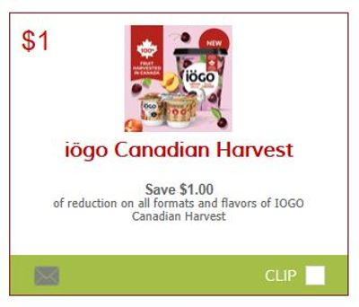 Sobeys Ontario: Two Iogo Canadian Harvest Products For 50 Cents After Coupon