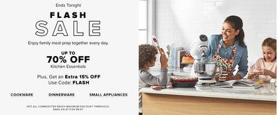 Hudson's Bay Canada Online Flash Sale: Today, Save up to 70% Off Kitchen Essentials + Extra 15% off with Coupon Code