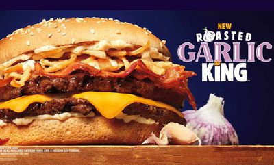 Burger King's Garlic King Sandwich in Canada