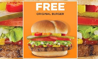 Free Harvey's Original Burger* at Harvey's