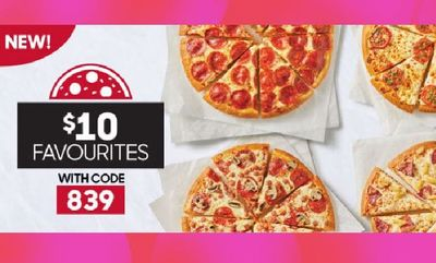 $10 FAVOURITES at Pizza Hut