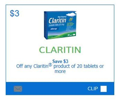 Claritin Canada Coupons: Save $3 On 20 Count Packages or Higher *Printable Coupon*