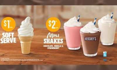 Soft Serve & Mini Shakes at Burger King