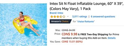 Amazon Canada Deals: Save 60% on Float Inflatable Lounge + 33% on Fruit Soft Serve Maker + 43% on Portable Power Station Explorer with Coupon + More Offers