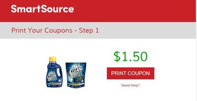 SmartSource Canada Coupons: Save $1.50 On Any OxiClean Laundry Product