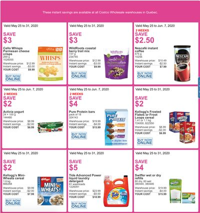 Costco Canada More Savings Weekly Coupons/Flyers for: Quebec, May 25 – 31