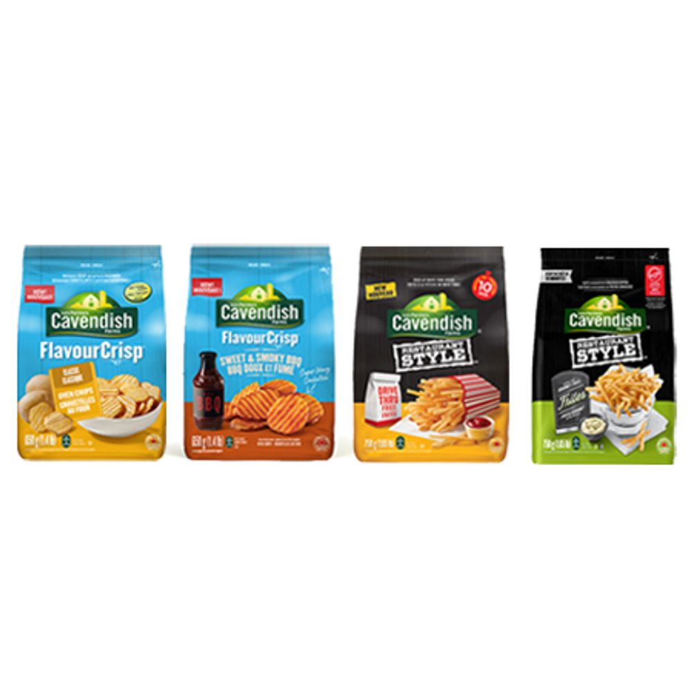 Save $1.00 On the purchase of any one Cavendish Farms product (454g -750g )