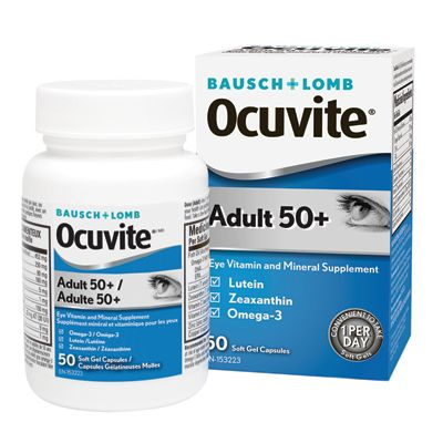 Save $8 on your next purchase of Ocuvite Adult 50+ Eye Vitamin and Mineral Supplement