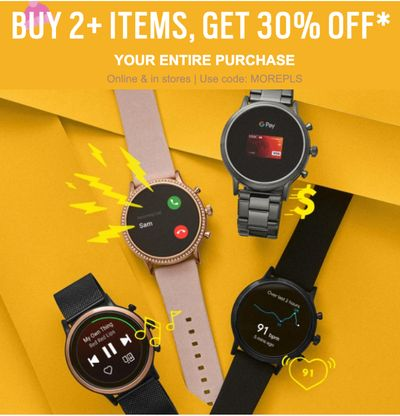 Fossil Canada Promotions: Save 30% off When You Buy 2 Items or More With Coupon Code