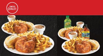 Swiss Chalet Canada New Coupons: 2 Quarter Chicken Dinners for Only $17.99 + More Deals