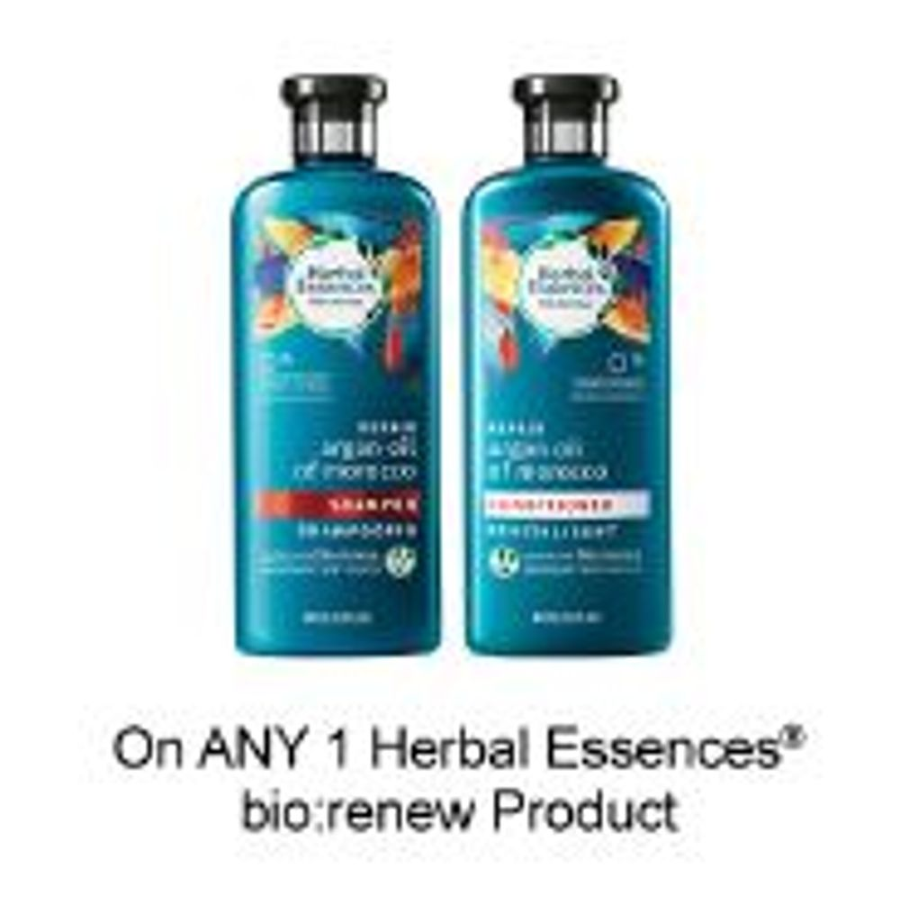 Save $1.00  when you buy any ONE Herbal Essences bio: renew Product (excludes Styling and Treatment Products and trial/travel size, value/gift/bonus packs)