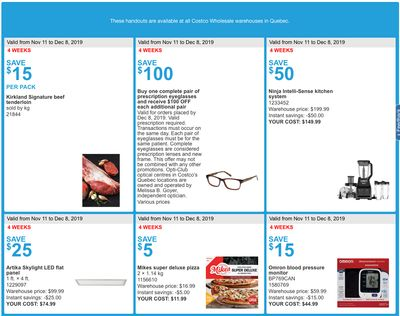 Costco Canada More Savings Weekly Coupons/Flyers for: Quebec, November 11 -17