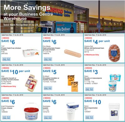 Costco Canada Business Centre Instant Savings Coupons / Flyer, November 11 – 24