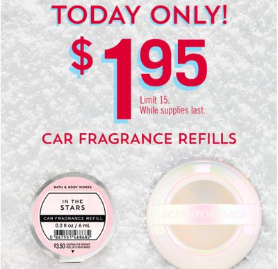 Bath & Body Works Canada Coupons: Car Fragrance Refills for $1.95 with Coupon + Save $10 Off $30 with Coupon + More