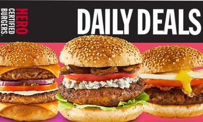 Daily Deals for Heroes! at Hero Certified Burgers