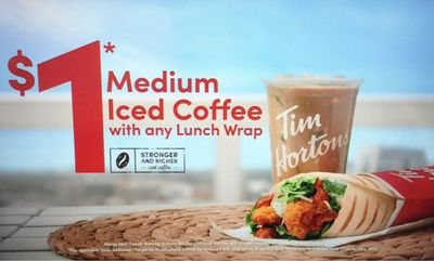 Iced Coffee for $1 at Tim Hortons
