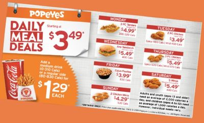 Daily Deals at Popeyes