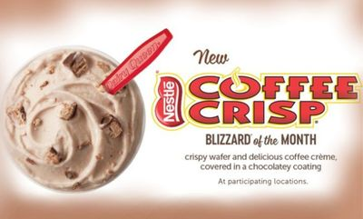 Coffee Crisp Blizzard at Dairy Queen