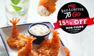 ORDER TO GO. GET 15% OFF* at Red Lobster
