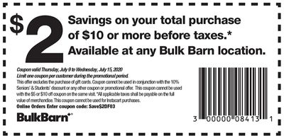 Bulk Barn Canada Coupons: Save $2 - $10, Valid until July 15