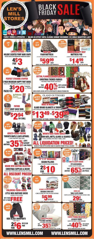 Len's Mill Stores Black Friday Sale Flyer November 18 to December 1