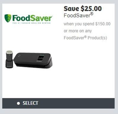 WebSaver Canada Coupons: Save $25 On FoodSaver Products