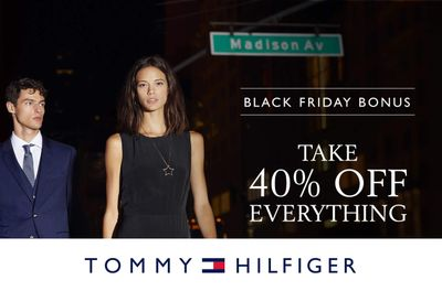 Tommy Hilfiger Canada Black Friday Week 2019 Coupon & Sale: 40% off Entire Store + 20% off