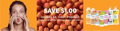 St. Ives Canada Coupons: Save $1 On Any St. Ives Product