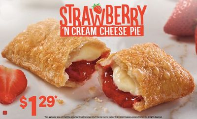 Strawberry 'N Cream Cheese Pie at Popeyes