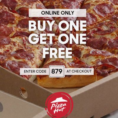Pizza Hut Canada Black Friday Online Deal: BOGO FREE, with Coupon Code