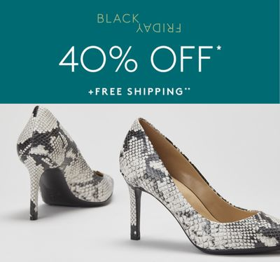 Naturalizer Canada Black Friday Sale: Save 40% off Sitewide + FREE Shipping, with Coupon Code