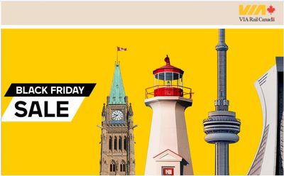 Via Rail Canada Black Friday 2019 Sale *Live*  Now: Save up to 40% off with Coupon Code