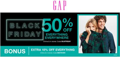 Gap Black Friday 2019 Sale *Live*: Save 50% Off Everything + Extra 10% off with Coupon Code!
